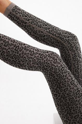 Леггинсы Сome up серый леопард