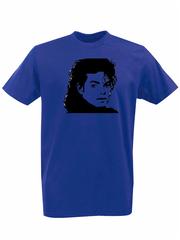 Футболка с принтом Майкл Джексон (Michael Jackson) синяя 002
