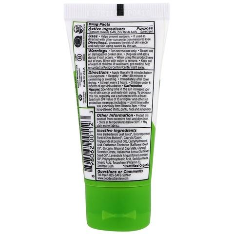 Goddess Garden, Органический продукт, для детей, натуральное солнцезащитное средство, SPF 30, 28 г