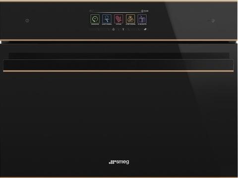 Компактный духовой шкаф Smeg SF4606WVCPNR комбинированный с пароваркой