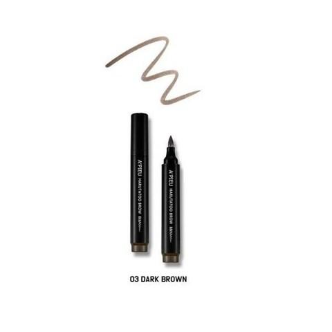 A'PIEU Фломастер для бровей с эффектом тату Harutatoo Вrow  #Dark Brown, 4,6 гр