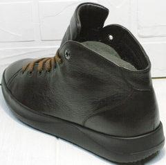 Мужские демисезонные кроссовки ботинки из натуральной кожи Ikoc 1770-5 B-Brown.