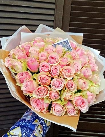 51 роза 40 см в оформлении #4435