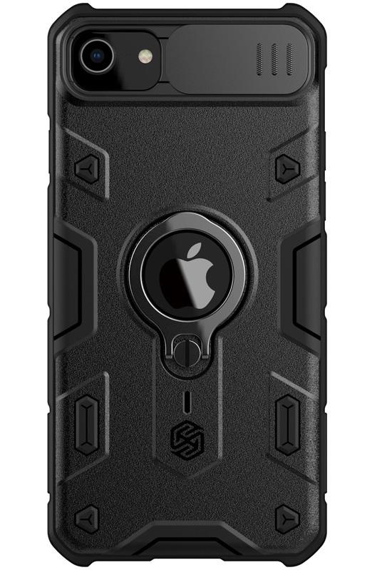 Чехол для iPhone SE (2020), iPhone 7 и 8 от Nillkin серии CamShield Armor Case с защитной шторкой задней камеры