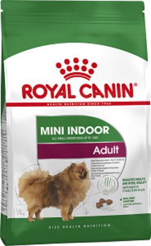 Royal Canin Mini Indoor Adult сухой корм для взрослых собак мелких пород весом до 10 кг живущих в помещении старше 10 месяцев