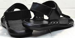 Мужские летние сандали босоножки из натуральной кожи Zlett 7083 Black.