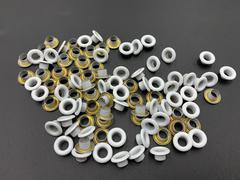 Люверсы металлические 5мм белые (цветная эмаль)