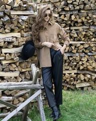 Вельветовый жакет-рубашка с карманами