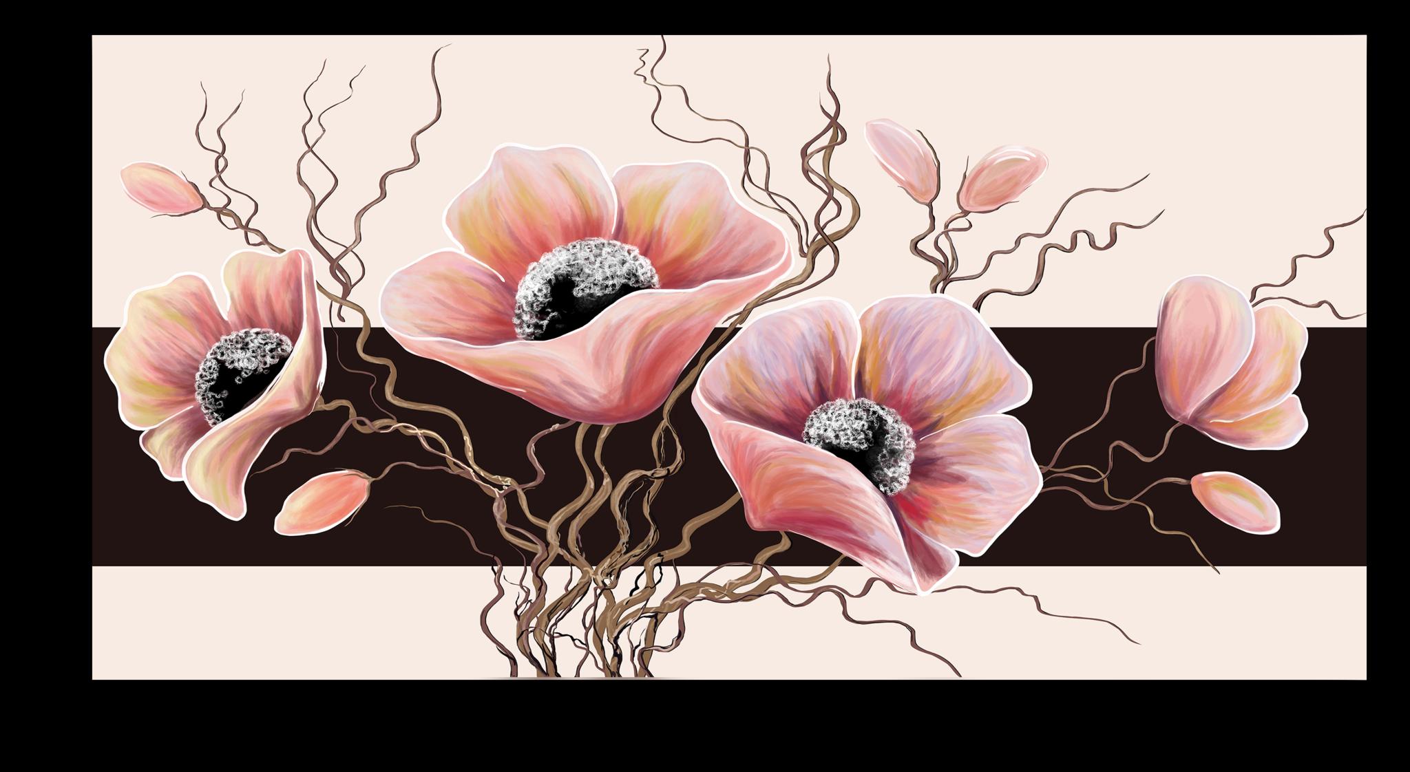 """Постеры Постер """"Розовые маки"""" п124.png"""