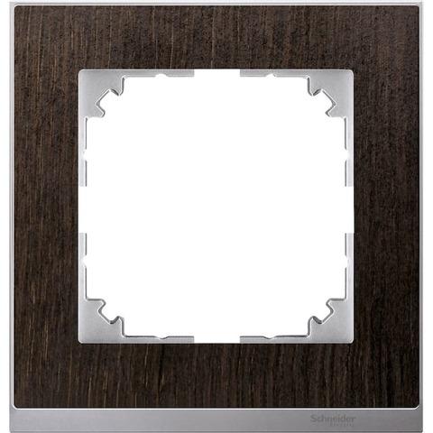 Рамка на 1 пост. Цвет Алюминий. Merten. M-Pure Decor System M. MTN4010-3671