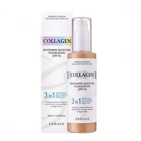 Основа тональная с коллагеном 3 в 1 Enough 3in1 Collagen foundation #21 100мл