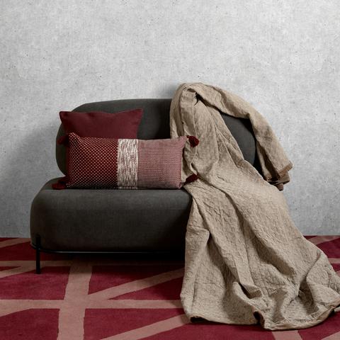 Покрывало из стираного хлопка бежевого цвета из коллекции Essential, 230х250 см