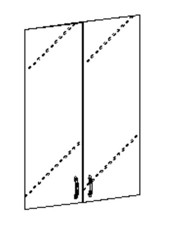 Стеклодвери на 3 секции