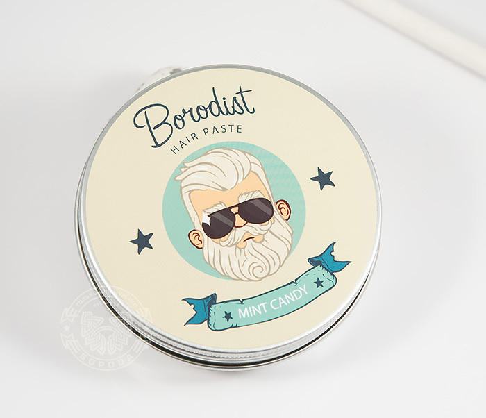 RAZ216 Матирующая паста для укладки волос «Borodist Mint Candy» (100 гр)