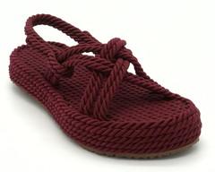Сандалии плетёные из текстиля