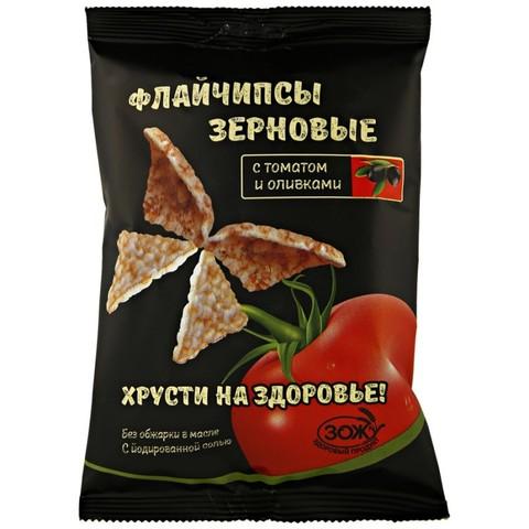 Флайчипсы зерновые с томатом и оливками 40г