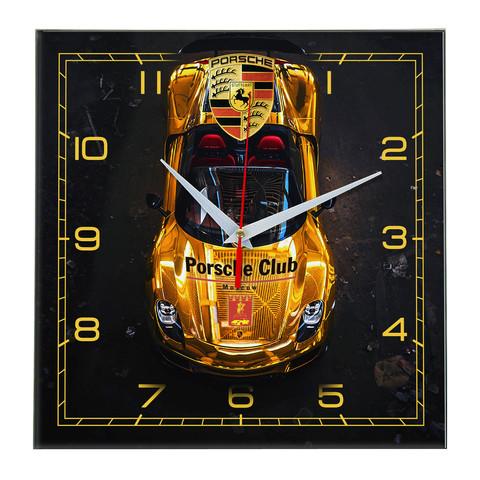 Настенные часы «золотой Порш» Porsche