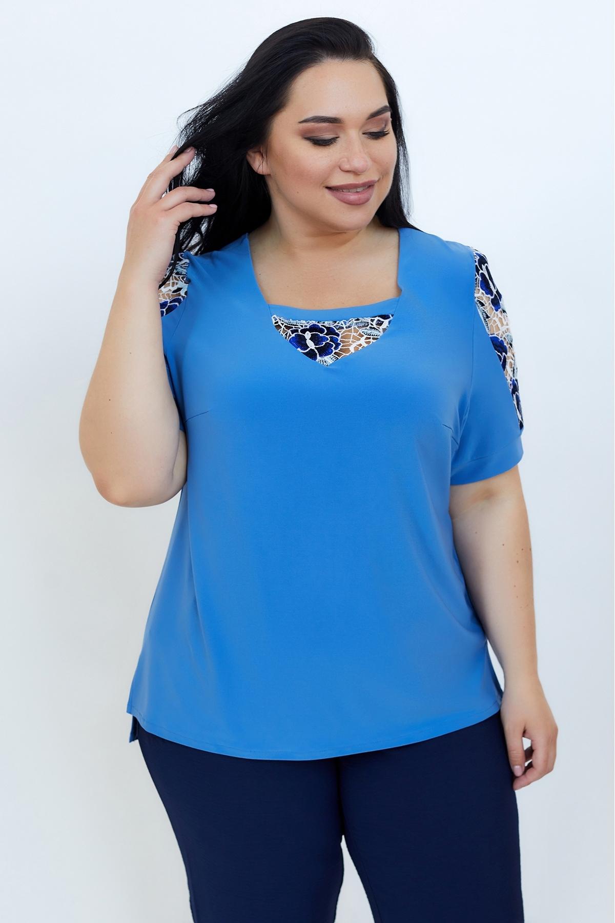 Блуза Дейзі (Дейзи)(темно-голубий)