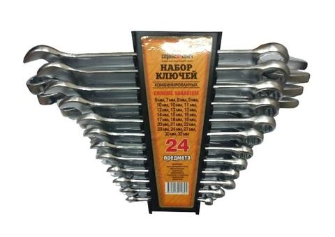 Набор ключей 24 предметов (6-24, 27,30,32) холодный штамп CR-V СЕРВИС КЛЮЧ (70040)