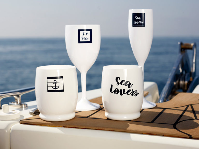 WATER GLASS – LETTERS, SEA LOVERS 6 UN