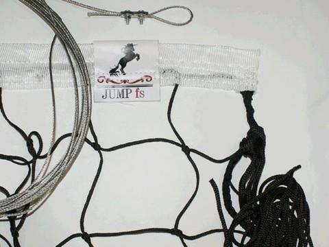 Сетка волейбольная любительская № 3,2, черная, размер 9,5 м* 1м, нить 3,5 мм, диаметр троса 2,0 мм: (00007270-3,2-ЛЧн3.0тр2.0-):