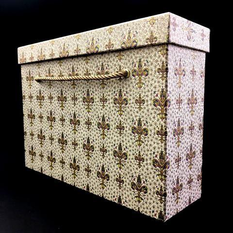 Коробка с ручками Чемодан Золотые лилии