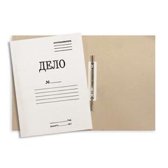 Скоросшиватель картонный Attache Дело № А4 до 200 листов белый (плотность 440 г/кв.м)
