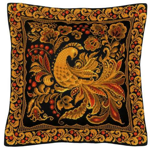 Набор для вышивания крестом «Подушка/панно «Хохлома»» (1758)