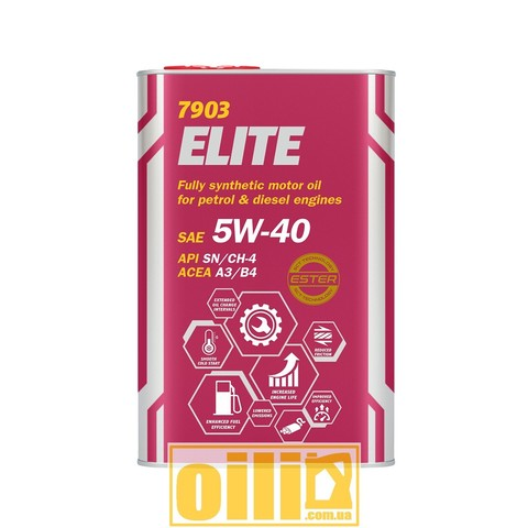 Mannol 7903 ELITE 5W-40 1л metal