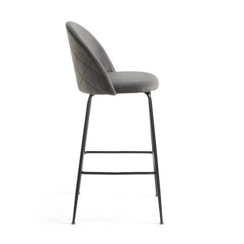 Барный стул Mystere серый бархат