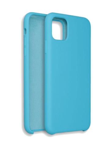 Чехол для iPhone 11 Софт тач мягкий эффект | микрофибра светло-голубой
