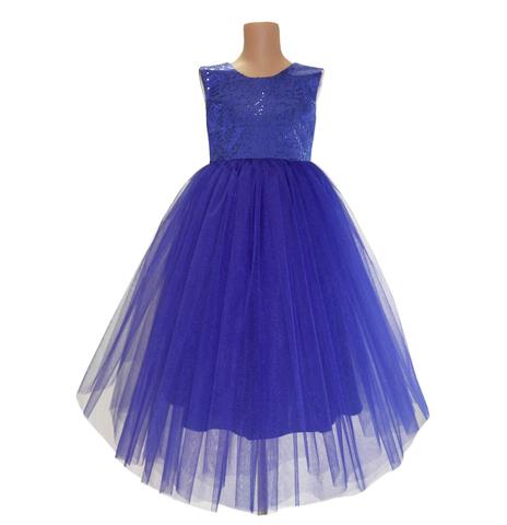 Платье длинное синее