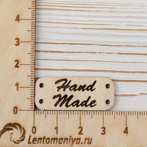 """Бирки деревянные """"Hand made"""" 5 штук"""