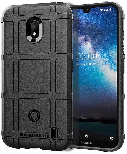 Чехол на Nokia 2.2 цвет Black (черный), серия Armor от Caseport