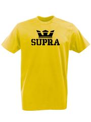 Футболка с принтом Тойота Супра (Toyota Supra) желтая 002