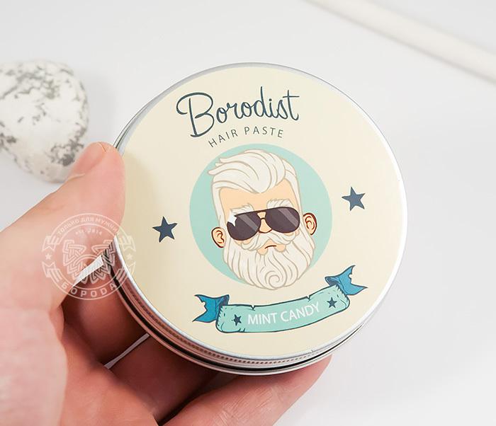 RAZ216 Матирующая паста для укладки волос «Borodist Mint Candy» (100 гр) фото 04