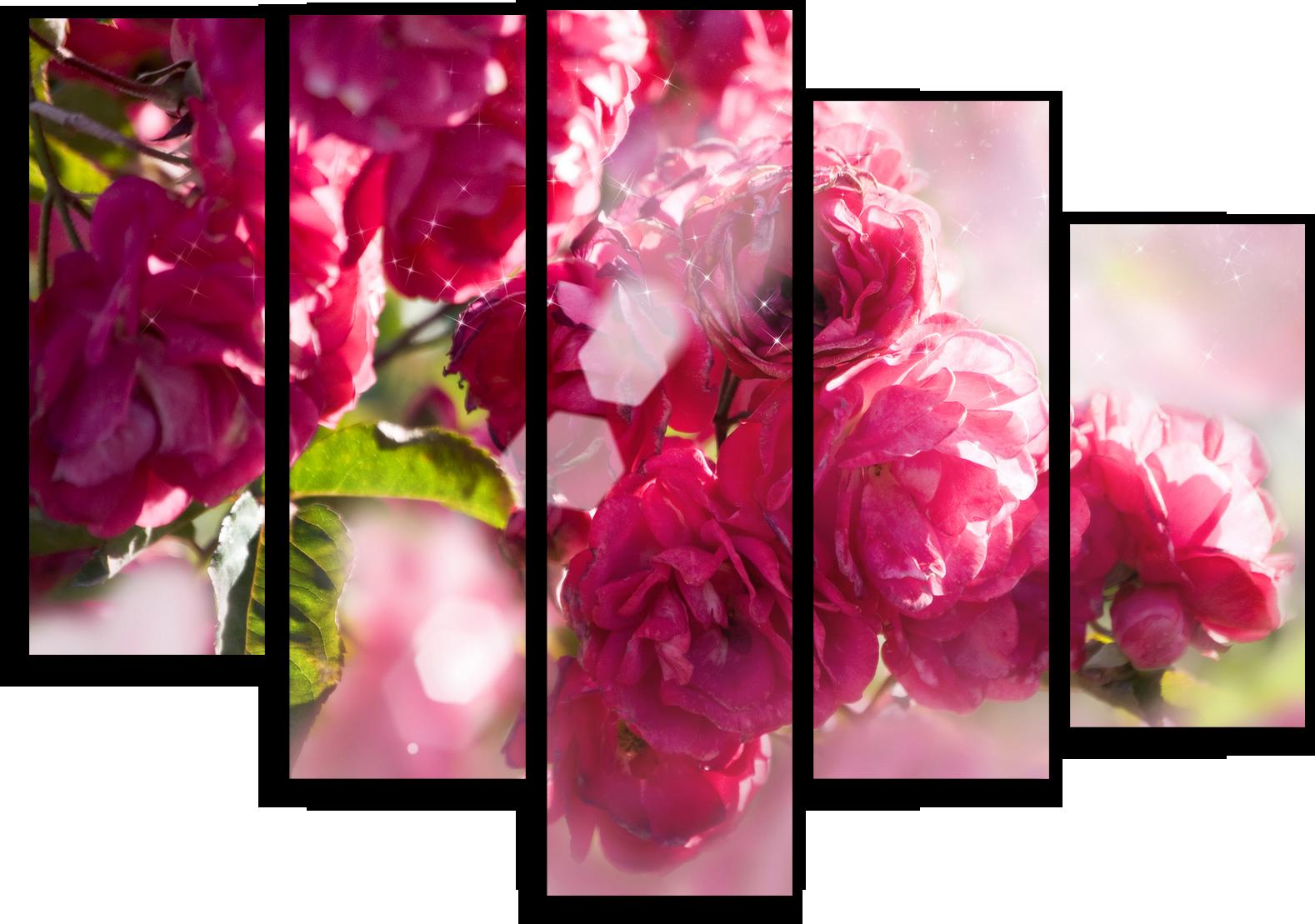 """Модульные картины Модульная картина """"Розовый пион"""" М62.png"""