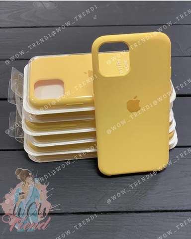 Чехол iPhone 11 Silicone Case /canary yellow/ канареечный 1:1