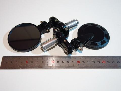 Зеркала для мотоцикла в руль круглые чёрные