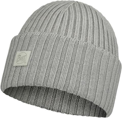 Вязаная шерстяная шапка Buff Hat Wool Knitted Ervin Light Grey фото 1
