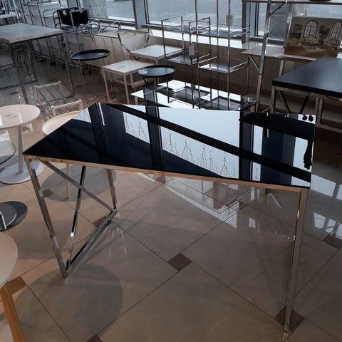 Письменный стол MK-6343-BK 60х114х76 см Хром/Черный