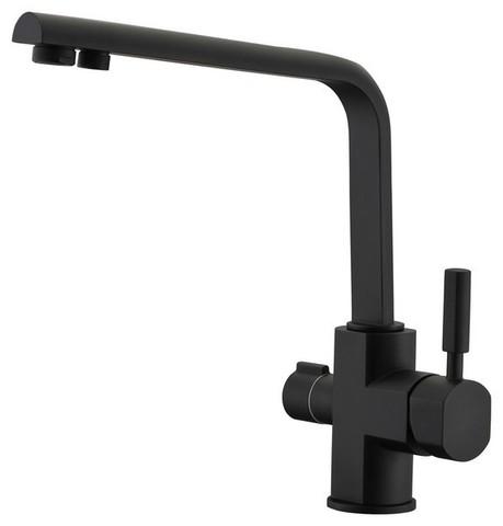 Смеситель KAISER Decor 40144-9 черный матовый для кухни под фильтр