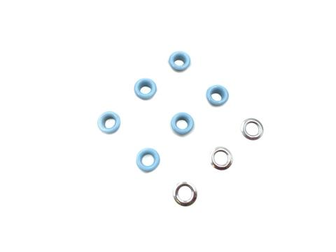 Люверсы металлические 5мм голубые (цветная эмаль)