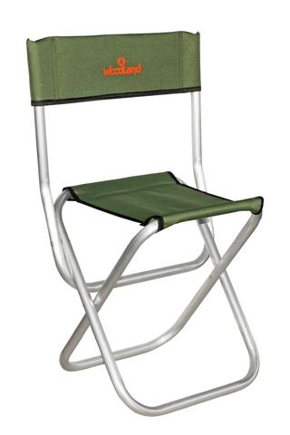 Стул складной туристический со спинкой Woodland Tourist ALU MIDI ASM-002 (алюминиевый)