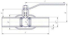Конструкция LD КШ.Ц.П.GAS.080/070.025.Н/П.02 Ду80