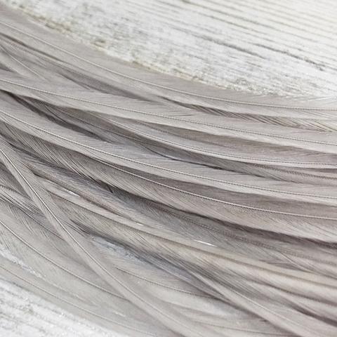 Перо из седла петуха Light Gray Dun (10 шт)