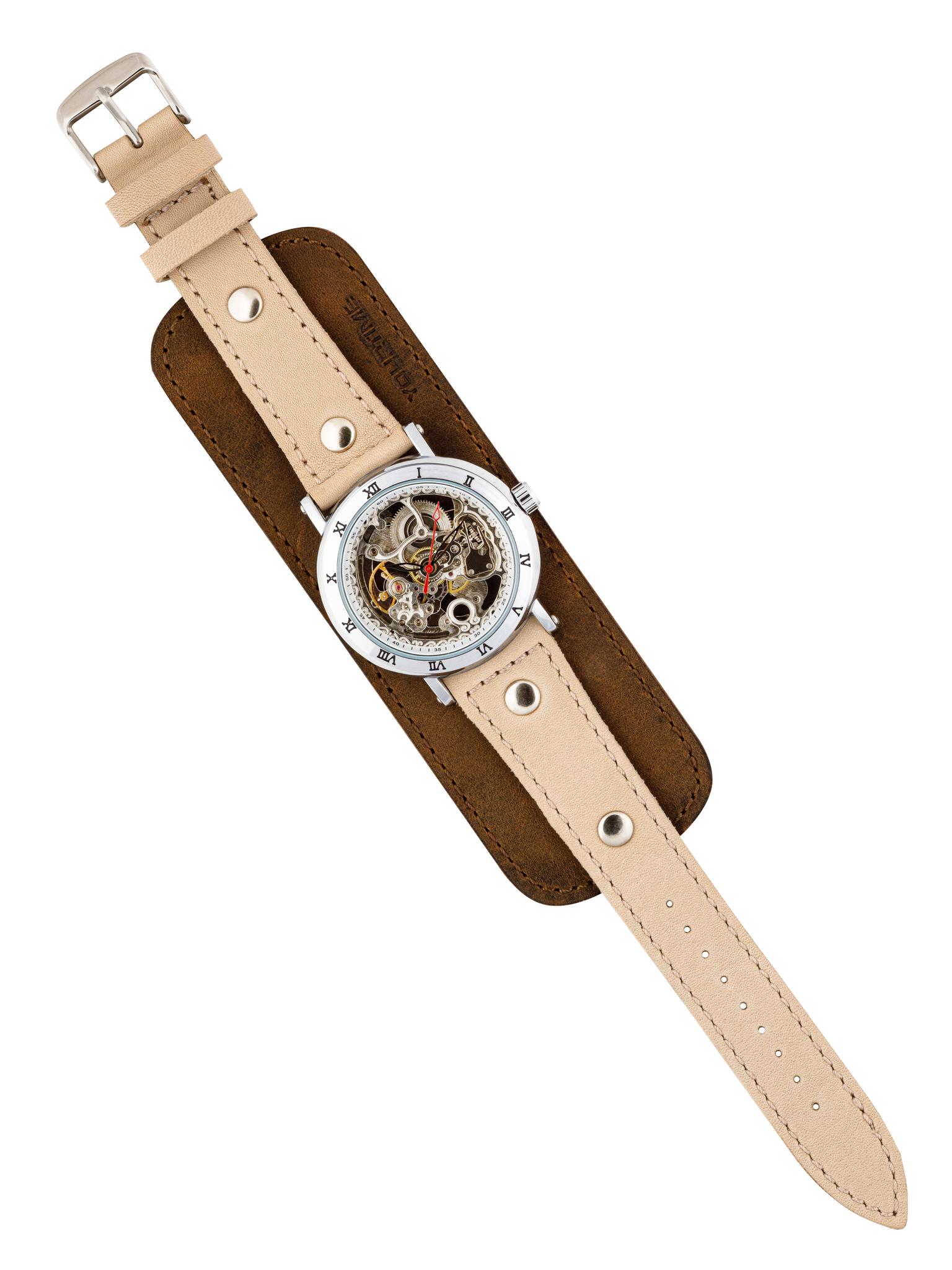 Часы скелетоны женские механические Desert YOURTIME