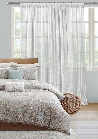 Готовая штора сетка Луиза белый