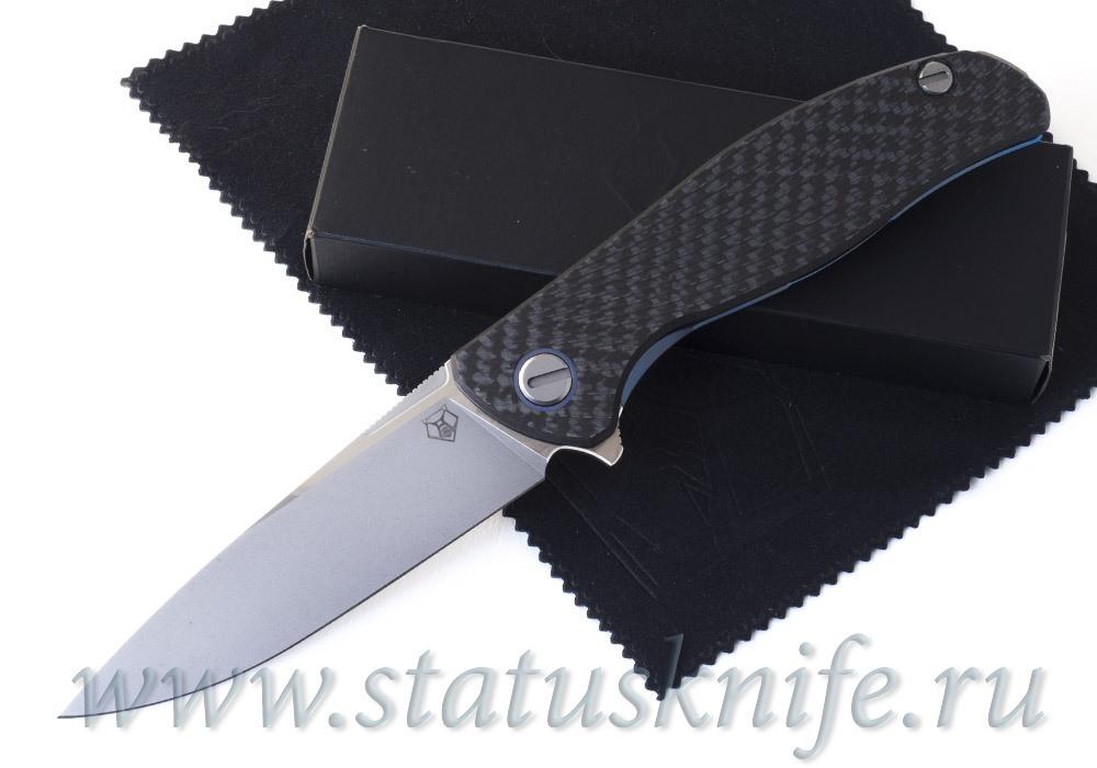 Нож Широгоров Хати Blue Accent Vanadis 10 CF 3D Кастом Дивижн
