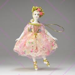 Эксклюзивная ёлочная игрушка Балерина в костюме